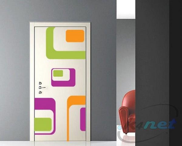 Adesivi murali wall stickers sticker porta optical door ebay - Adesivi per porte interne ikea ...
